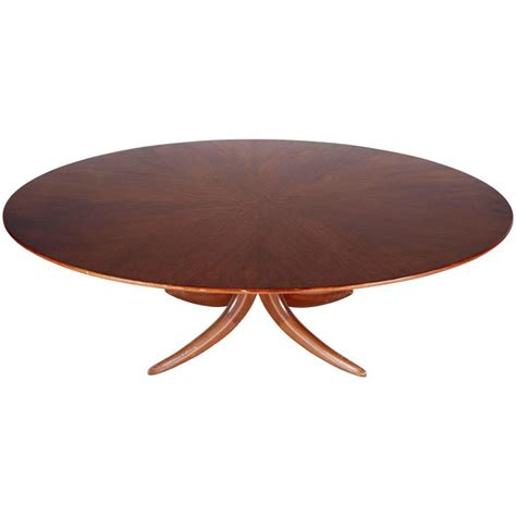 postmodern oval mahogany coffee table for sale at 1stdibs
