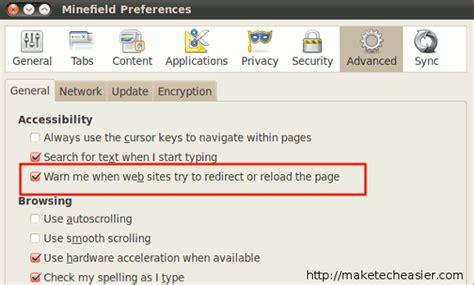 Auto Refresh Firefox by Disabilitare Auto Refresh Auto Aggiornamento Browser