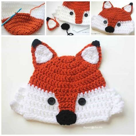 Animal Hat free crochet baby animal hats top pins