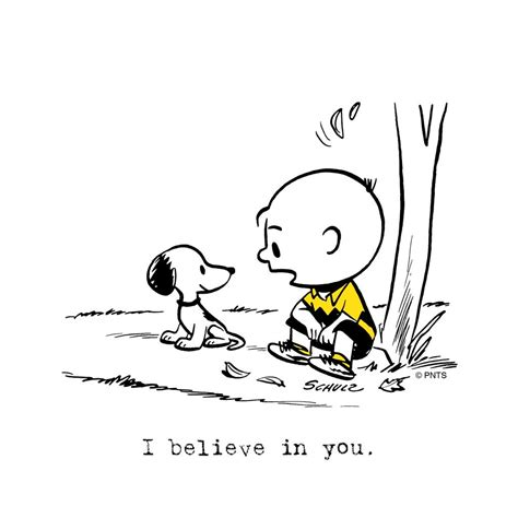 i believe in you images peanuts on quot i believe in you https t co