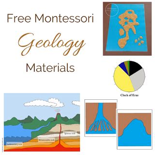 Free Printable Montessori Geography Materials | elementary observations free montessori geology materials