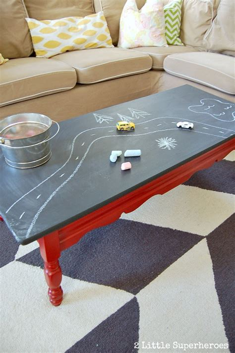 how to use chalkboard paint to make a table stand out