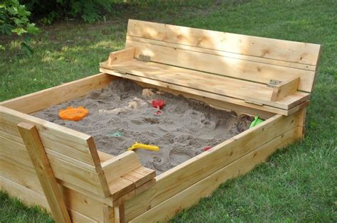 sandbox with bench 153263193542386257 sandbox with lid that turns into a bench i will make one of