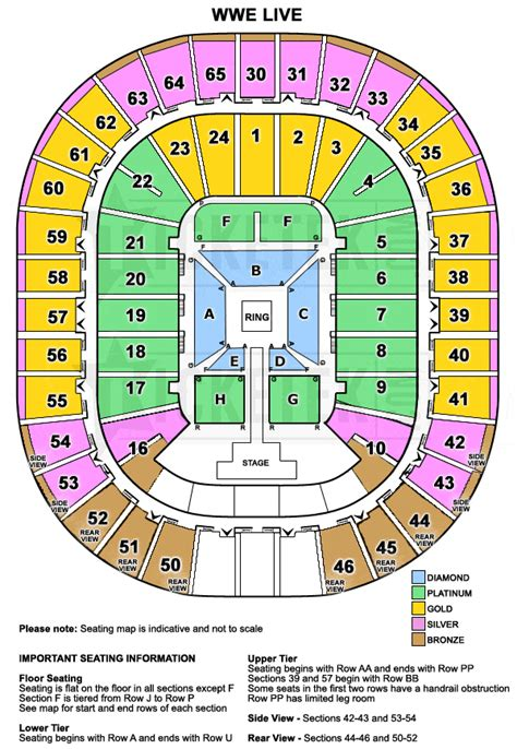 rod laver arena floor plan wwe live world tour presented by dainty group