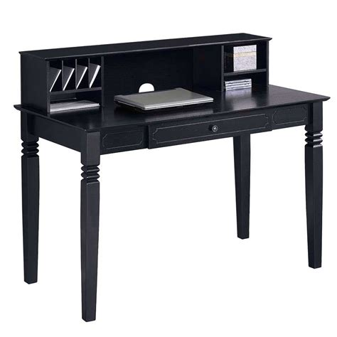 solid wood desk with hutch black wood computer desk with hutch