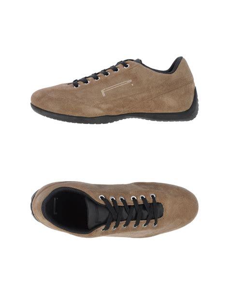 pirelli pzero low tops trainers in brown for light