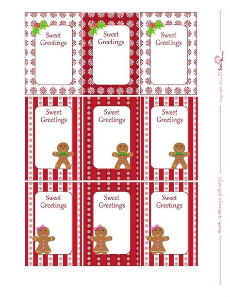 free printable gingerbread man labels gift tags gingerbread man printables pinterest tags