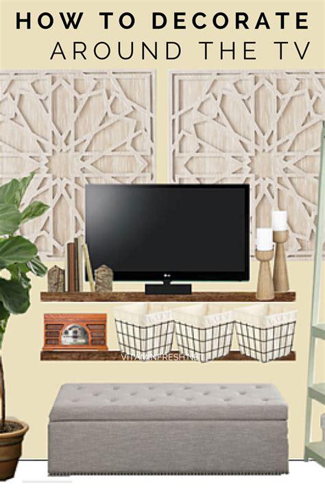 creative ways  decorate   tv living room