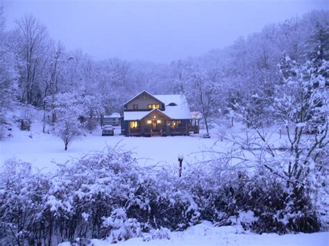 snow home white christmas in a timber frame building a timber