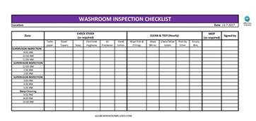 Hourly Checklist Template by Free Toilet Cleaning Checklist Excel Templates At