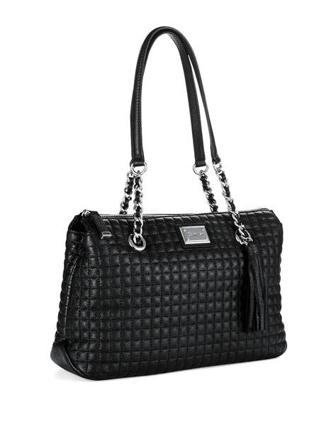 Calvin Klein Quilted Handbag by Calvin Klein Quilted Satchel Bag In Black Lyst