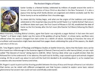 Easter Celebrations Around The World Reading