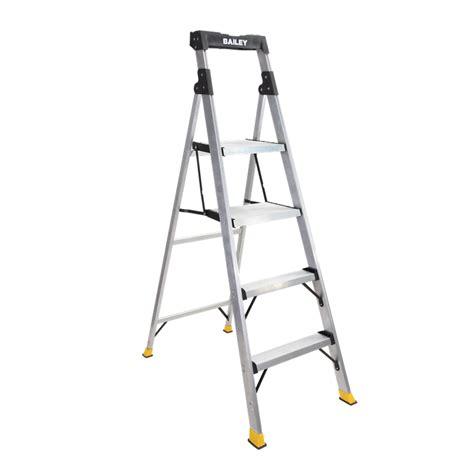 one step stool bunnings bailey 120kg 4 step hybrid stool step ladder bunnings