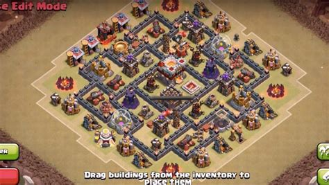 coc layout anti dragon th7 th6 th7 farming and war base layouts with new air