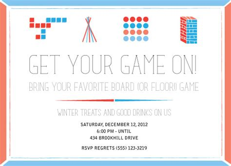 invitation design games party invitations game night at minted com