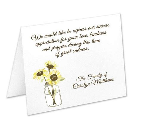 Funeral Acknowledgement Cards Template by Sympathy Acknowledgement Cards Funeral By