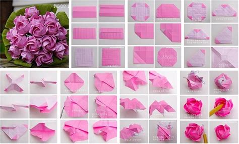 Folded Paper Roses - diy beautiful origami paper roses usefuldiy