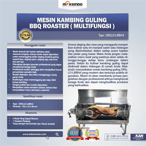 Termometer Grill Untuk Bbq jual mesin kambing guling bbq roaster grillo lmb44 di