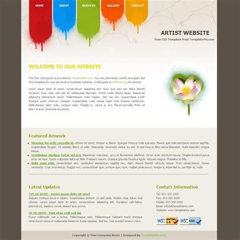 website templates for visual artists template 031 artist