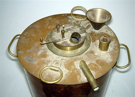 beautiful antique copper table top moonshine still must