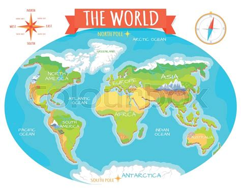 map of american oceans the world geographical map names of continents oceans