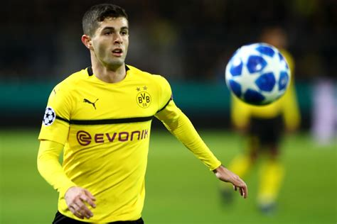 christian pulisic minutes played rumour mongering dortmund would accept 163 50m for christian