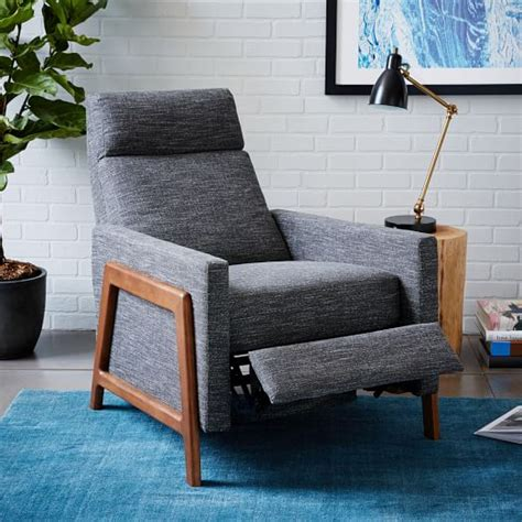 Apartment Size Recliner Chairs by Spencer Wood Framed Upholstered Recliner West Elm