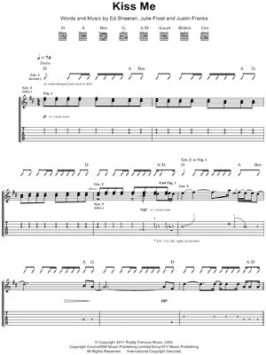 tutorial kiss me ed sheeran guitar guitar tabs kiss me guitar tabs kiss guitar