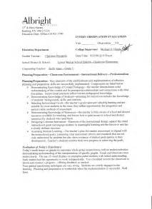 Teaching Observation Report Sample Student Teaching Supervisor S Observation Report Images