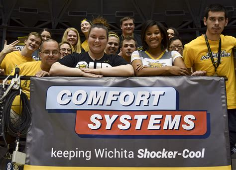 comfort systems wichita shocker sponsorship offers chance to celebrate and give