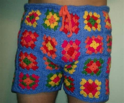 pattern crochet mens shorts made to order mens crochet shorts lol i made these for a