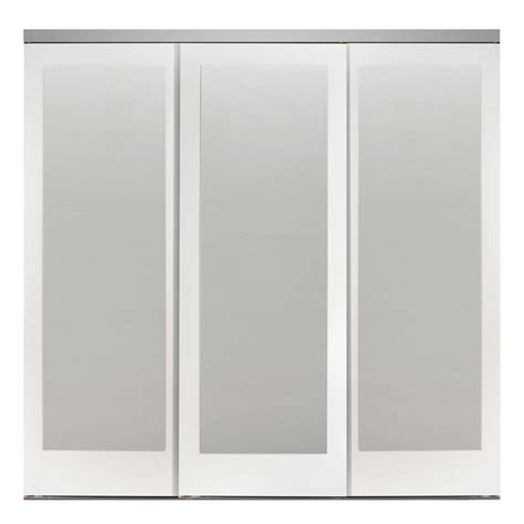 Home Depot Mirrored Closet Doors Impact Plus 90 In X 80 In Mir Mel Primed Mirror Solid Mdf Interior Closet Sliding Door
