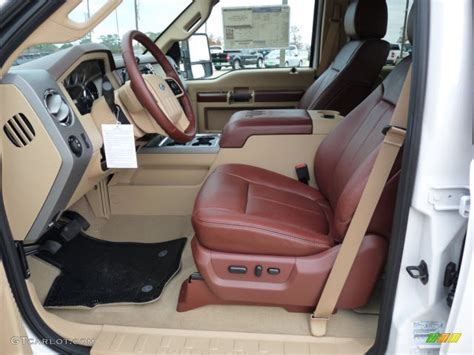 King Ranch F250 Interior by Chaparral Leather Interior 2012 Ford F250 Duty King