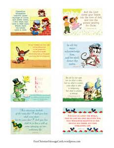 Religious Printable Cards - free printable christian message cards variety sheet 10
