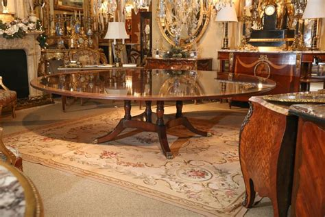 custom made dining room tables custom made extra wide round dining table at 1stdibs