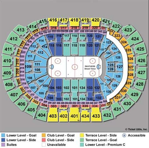 bbt center seating view florida panthers seating chart florida panthers tickets