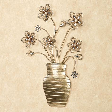 Floral Wall Decor by Rosianna Floral Vase Metal Wall