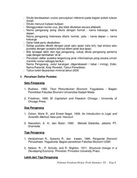 penulisan daftar pustaka et al pedoman penulisan skripsi