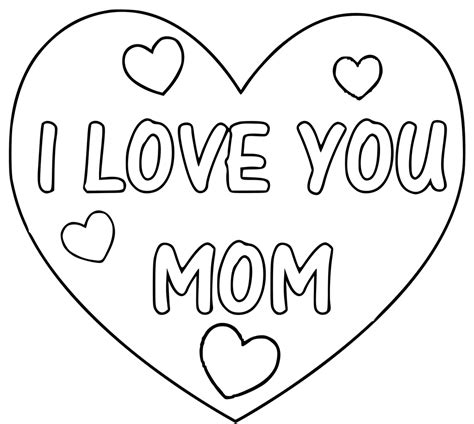 the gallery for gt i love you mom coloring pages