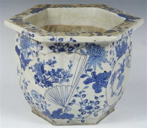 Chinese Blue And White Porcelain Planter Blue And White Planters