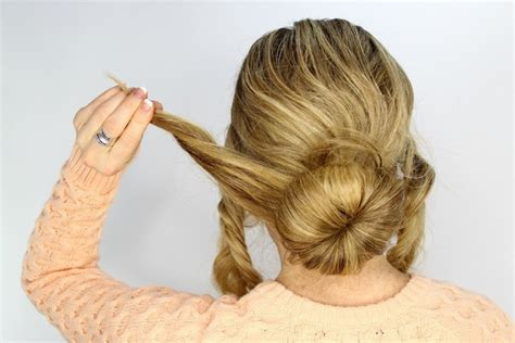 Wedding Hair Bun Tutorial by Wedding Day Hairstyles Fishtail Braid Wrapped Bun