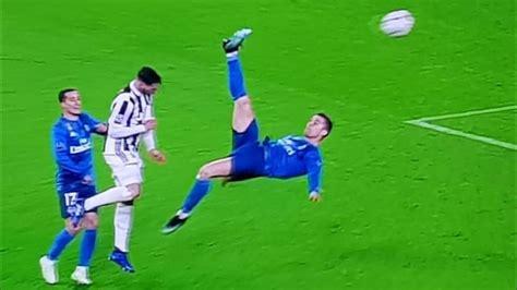 ronaldo juventus ovation gol di cristiano ronaldo in rovesciata juventus 0 real madrid 3 standing ovation a cr7