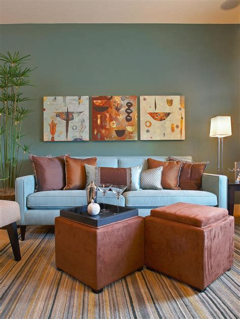 blue and brown color scheme for living room brown and blue living room color schemes modern house