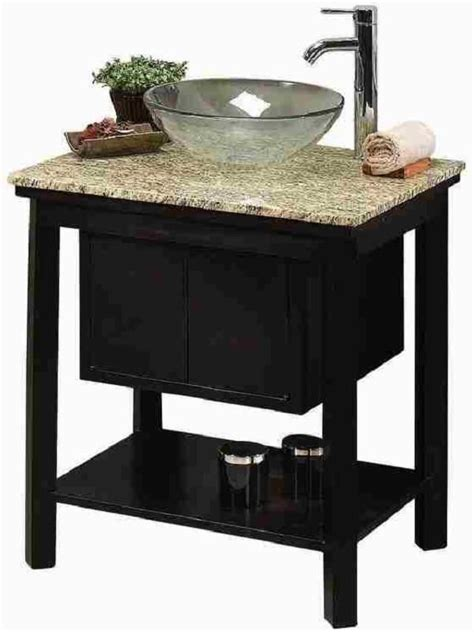 bathroom cabinets for bowl sinks vessel sink cream granite top faucet included bathroom