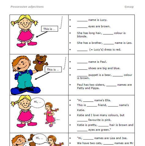 Possessive Adjectives Gap Fill