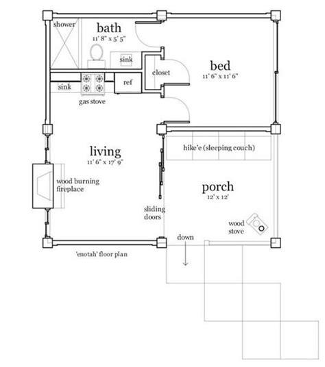 25 x 40 one room cabin plans cabin plans 456 sq ft 25 x25 house plans pinterest house plans