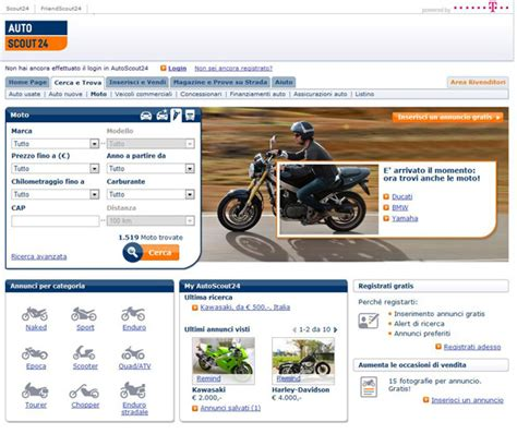 Autoscout It 24 by Autoscout24 Lancia In Italia La Sezione Dedicata Alle Moto