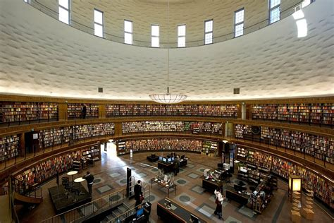 Stuttgart City Library stockholm public library designed by gunnar asplund www
