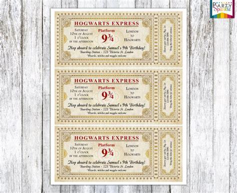printable hogwarts invitation hogwarts express ticket invitation harry potter by