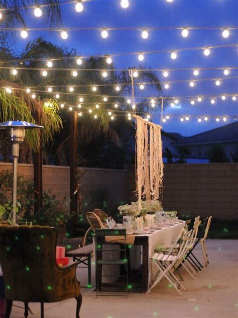 Backyard Patio Lights 40 Outstanding Diy Backyard Ideas